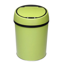 Green Stainless Steel Sensor Dust Bin