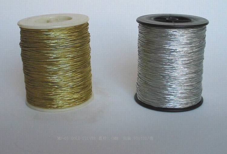 High quality silver elastic cord