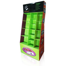 Multicells Cardboard Floor Display, Corrugated Compartment Display Stand