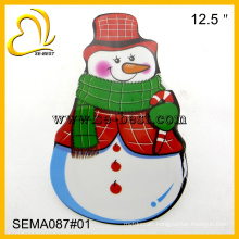 Snowman melamine plate, X-mas melamine plate, dishes