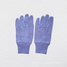 Gants de travail en coton à poignets en tricot à pois