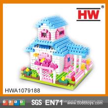Crianças Educacionais Self-Assembling Happy House Blocks Series Toy