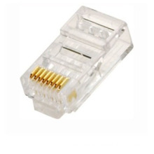 best price network transparent Crystal rj45 connector, amp rj45 plug connector cat6 23awg