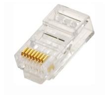 Лучшая цена сеть прозрачный кристалл rj45 разъем, amp rj45 штекерный разъем cat6 23awg