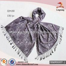 Wholesale Lilac Jacquard Pashmina shawl