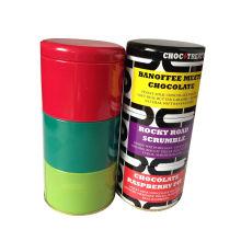 4 Ebenen Zinn Dose (Verpackung Süßigkeiten, Keks, Geschenk) Runde Container