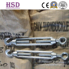 Marine Hardware Galvanized Commercial Type Malleable Iron Eye& Hook Turnbuckle