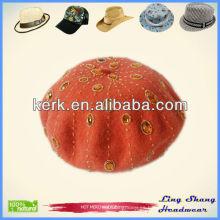 Sombrero de costura de la boina del grano de la nueva manera
