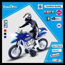 Brinquedo plástico de venda quente com motocicleta de brinquedo leve