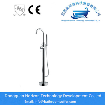 Floor Single-hole Bathtub Faucet with Shower