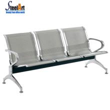 Fauteuil d'attente public moderne chaise en acier inoxydable hôpital attente chaise