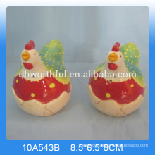 2016 new arrival ceramic chicken salt and pepper shaker