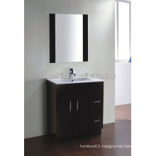 New MDF bathroom furniture Glass basin wall-mounted towels hanging