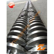 Double vis conique et baril pour tuyaux en PVC