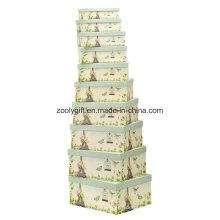 Personalizar el diseño de papel de impresión Nesting cajas de almacenamiento de regalo