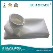 Saco de filtro do coletor de poeira da fibra da indústria química PTFE