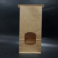 Food Packaging Tin Tie Bread Paper Bag with window