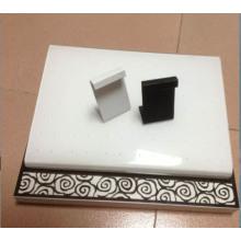 Кожа PU с покрытием Z-образная металлическая серьга