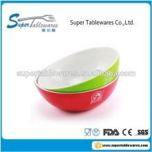 Double Color Melamine Plastic Popcorn Bowl