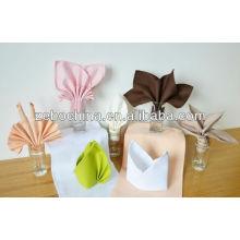 Couleurs de haute qualité différentes disponibles serviettes de table décoratives en coton en gros