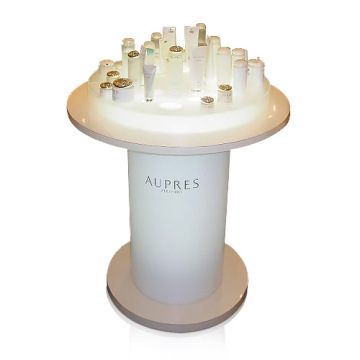Fashionable Acrylic Cosmetics Display Stand, Free Standing Cosmetic Display