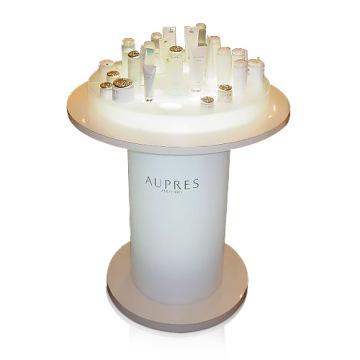 Fashionable Acrylic Cosmetics Display Stand, Free Standing Cosmetic Display