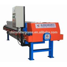 membrana automática PP cámara filtro de aceite prensa con sistema de lavado