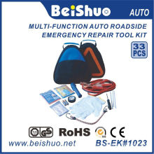 33PCS Car Emergency Tool Kit/Auto Emergency Kit with Triangle Bag