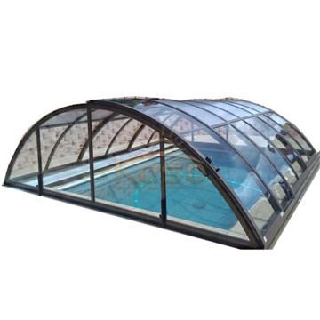 Tente de couverture de piscine ronde pour citations d'eau GlassOnline