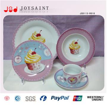 Européenne à la mode avec des plats de dîner en vrac de porcelaine jetable de porcelaine jetable libre de FDA / BPA