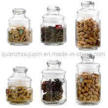 OEM Transparent Glass Sealed Lid Storage Jar