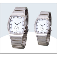 Stainless Steel Couple Watch, Quartz Watch (15180)