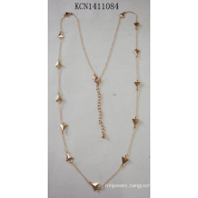 Long Triangle Necklace with Metal Fashion Jewellery