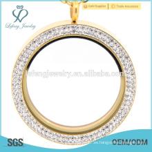 Pendientes afiligranados del medallón del recuerdo del oro, imán del locket del imán