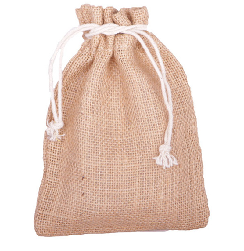 Custom linen drawstring bag online sell