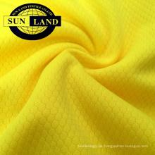 Gestricktes 100% Polyester-Dri-Fit-Netzgewebe mit Sechseckmuster 100% Polyester-Gestricktes Dri-Fit-Netzgewebe mit Hexagonmuster