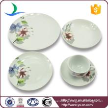 Louça de casamento de porcelana moderna com melhor conjunto de jantar de qualidade, conjunto de chá