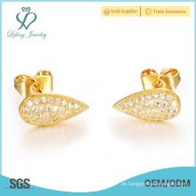 Heißer Verkauf 2015 Art- und Weiseschmucksache-Goldüberzug-Frauen Ohrring-Bolzen