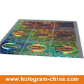 Серебристо безопасности Анти-поддельные этикетки 3D Лазерная голограмма