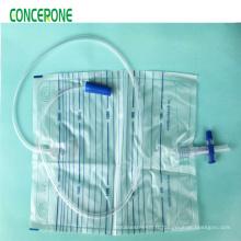 T-Valve stérile de sac de drainage d'urine