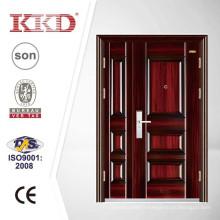 Doublé de porte en acier extérieure KKJ-328B pour l'entrée sécurité