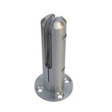 Abrazadera de vidrio de doble espiga con caída de precio grande de calidad superior