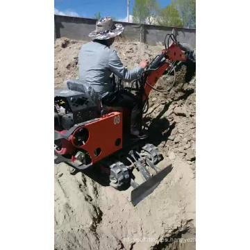 Venta caliente máquina de excavación de nuevo diseño multifunción pequeña mini excavadora de orugas hidráulica de 0,8 toneladas