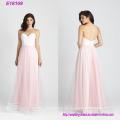 Rosa 2017 Frauen Mode Chiffon Brautjungfer Kleid