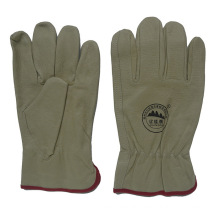 Pig Skin Full Lining Warmer Winter Working Driving Gloves for Drivers