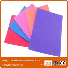 Viscose et tissu non-tissé de cuisine de tissu de polyester, tissu de nettoyage promotionnel à usages multiples de ménage