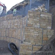 2016 chaud vente galvanisé panier hexagonal de gabion