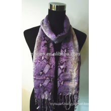 Rayon Scarf with Snakeskin Print Design