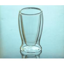 Promotional Classic Clear Double Wall Glass Cup, Clear Handmade Double Walled Glass Coffee Cup