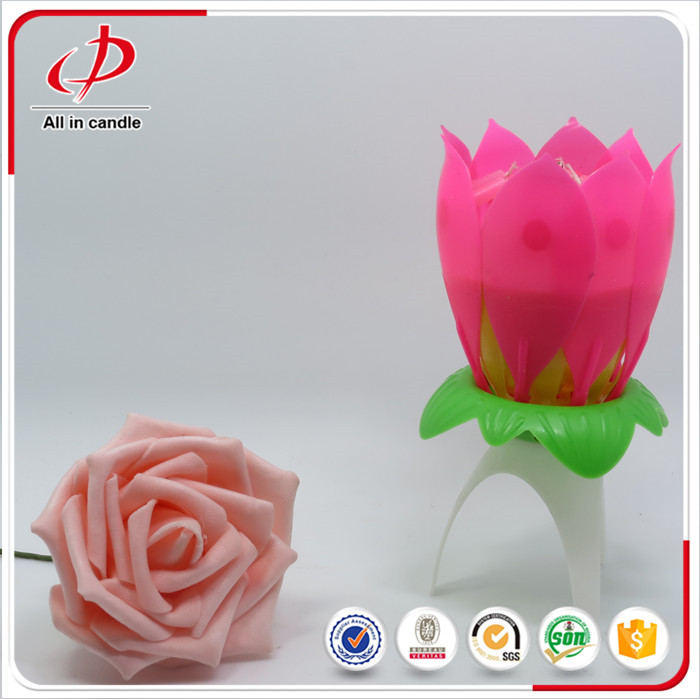 Fancy Lotus Opening Candle for Children Birthday
